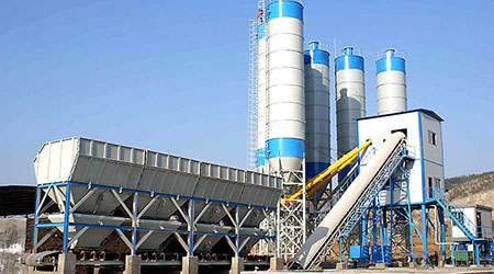 HZS35 Small Concrete Batching Plant in Indonesia