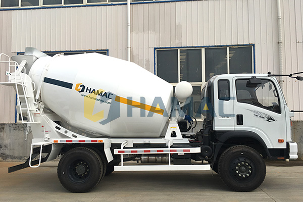 6m3 Concrete Transit Mixer delivered to South America